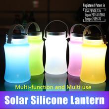 Premium gift Solar lantern Silicone Bottle Waterproof Drift Bottle Water Bottle Solar Energy Light