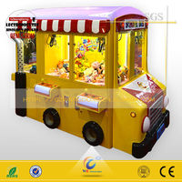 Toy claw machine bus toy machine rainbow paradise coin operated mini vending machine Wangdong