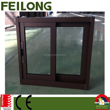 Good color & looking aluminum frame glass sliding window passed AS2047