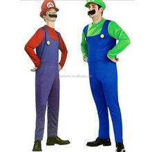 di alta qualità fantasia bambini cosplay costume mary super uomo maschio Marie fratelli vestiti per halloween carnevale