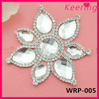 shoe decoration rhinestone applique shoe clips WRP-005