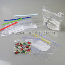 Promotional LDPE small self seaedl plastic zipper bag for furniture hardware/electronics component/electronics store