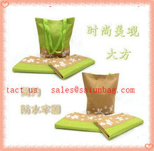 Silk printing logo foldable shopping bag pattern