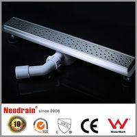 Long plastic shower channel floor drain