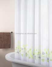 100% Polyester White Bath Curtains Shower Stuff