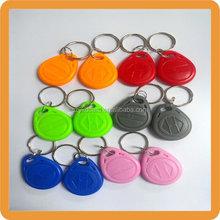 Long warranty 125khz writable rfid T5577 key fob/key ring for access control