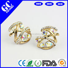 zince alloy 14k gold earrings for woman from GC jewelry factory