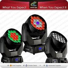 2015 QueenBeam Orsam 19X12.8W Multi-chip RGBW 4IN1Led Beam Moving Head /Led Zoom Moving Head