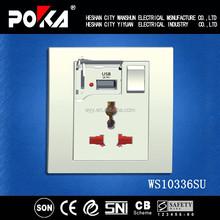 1A usb wall socket eu , Multi wall socket with usb port