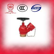 "2.5"" Oblique screw landing valve BSPT standard Fire Hydrant valve With Flange end"