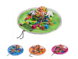 Portable large size toy storage bag children play mat toys organizer bag