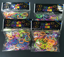 rubber loom bands 300pcs with clip