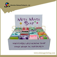 Grocery soap cardboard counter top display boxes