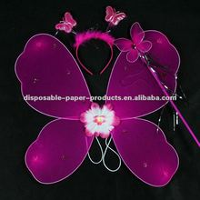 Wholesale Kids Pink Butterfly Girls Fairy Halloween Costume Wings , Free Shipping