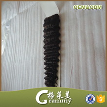 New fashion style wholesale high quality grade 7a deep wave virgin brazilian human hair extension remy