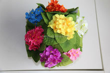 NZ-6005 High quality fabric decorative artificial bean flower small begonia 5 forks