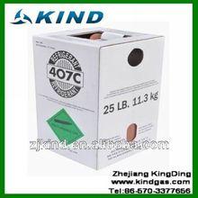 11.3kg/25lbs desechables cilindro de gas refrigerante r407c para la venta