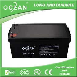 Ocean 12V 200Ah lead acid battery and gel battery best price from solar battery factory