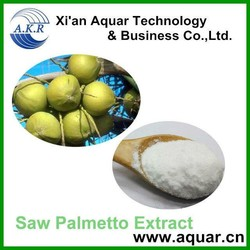 Samples free Saw Palmetto Berry Extract 45% Fatty acid