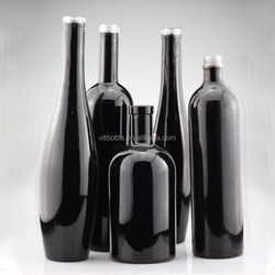 Export black spray glass bottle boston glass bottle 500ml water bottle 350ml