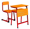 Single Student Wooden School Desk with Chair/Front Panel for Mid-Eastern Country