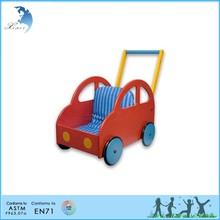 Wood engraved kindergarten montessori material toys Pushing Car