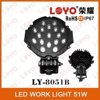 "Car Accessory 51W cob LED Work Light , 4X4 LED Work Light 4"" LED off Road Spotlights for Automotive Part"