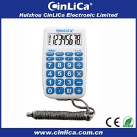8 digits handheld calculator with key sound & rope