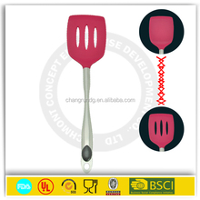 100% FDA Silicone Kitchen cooking Utensil Set 5 Piece red Silicone Spatula Turner Spoonula Mixing Spoon Slotted Spoon ladle