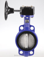 Gear Worm Operation Wafer-style Butterfly Valve With Soft Sealing