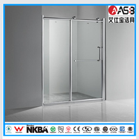 Shenzhen modern 8mm Tempered Glass bathroom hot water shower
