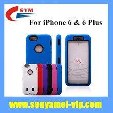 2015 New Arrival China Supplier PC TPU Silicon For iPhone 6 Case Hybrid Shockproof 3 in 1