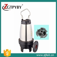 WQK vertical sewage centrifugal pump submersible sewage cutter pump three phase water pump