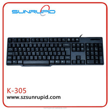 Simple Classic Model Slim Standard USB Port Wired Keyboard for home and office