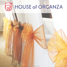 100% Nylon Organza Chair Sash