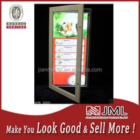 light up letters textile light box Slim Menu Poster Display acrylic led display box