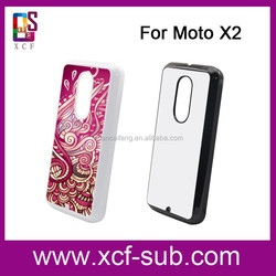 Customized Sublimation Plastic Phone Case for MOTO X2 With Metal Sheet