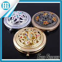 Custom shell compact mirror Round Cosmetic Mirror/Pocket Mirror/Compact Mirror plastic compact mirror in stock