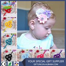 High Quality Baby Girls Kids Party Headband Head Band Hair Accessories Flower Beige