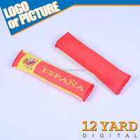 Espana nation polyester coach car seat belt cover,clear plastic leather car seat covers