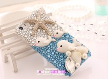 Cute Sunshine Sea Shell Dolphin Starfish Phone Cover Case For IPhone5