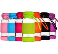 2015 New Products High Borosilicate Glass Bottle Small Size Glass Drinking Bottle Travel Mug