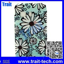 Flower TPU Soft Back Cover Case for Samsung Galaxy Young 2 G130 White Flower and Black Lines