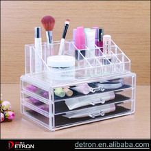 Acrylic cosmetic display nail care organizer