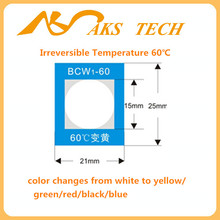temperature activated heat sensitive color changing sticker (BCW)