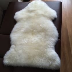 Very Thick Dyed Natural Sheepskin Leather Patch Rug