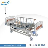 MINA-EB3710 electric 3 function cheap portable folding iron bed