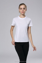plain white color short sleeve t-shirt
