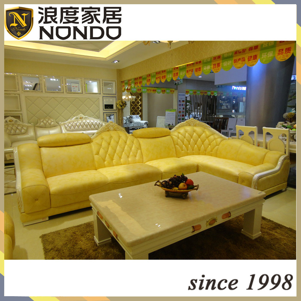 Living room sofa set yellow leather sofa aj021 buy yellow sofa set