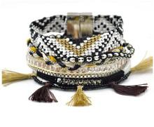 2015 handmade magnetic bohemia brazilian multilayered bracelet